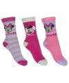 Minnie mouse meisjes sokken 3 pak lila