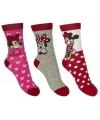 Minnie mouse meisjes sokken 3 pak rood