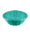 Mint groen rieten mandje 25 cm