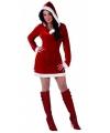 Miss santa kerstjurkje met capuchon