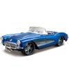 Modelauto chevrolet corvette cabrio 1957