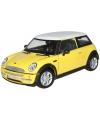 Modelauto mini cooper s geel 1 24