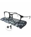 Modieuze leesbril 1 panterprint grijs
