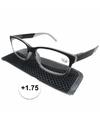 Modieuze leesbril 1 75 antraciet grijs