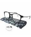 Modieuze leesbril 1 75 panterprint grijs