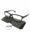 Modieuze leesbril 1 75 zwart met stippen