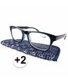 Modieuze leesbril 2 donkerblauw