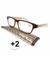 Modieuze leesbril 2 fantasy bruin