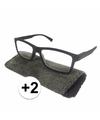Modieuze leesbril 2 zwart met stippen