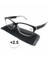 Modieuze leesbril 2 5 antraciet grijs