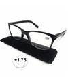 Modieuze zwarte leesbril 1 75