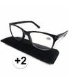 Modieuze zwarte leesbril 2