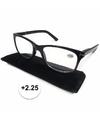 Modieuze zwarte leesbril 2 25