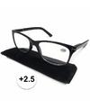 Modieuze zwarte leesbril 2 5