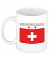 Mok beker zwitserse vlag 300 ml