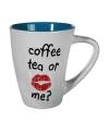 Mok coffee tea or me blauw 285 ml