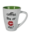 Mok coffee tea or me groen 285 ml