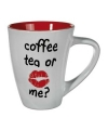Mok coffee tea or me rood 285 ml