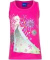 Mouwloos frozen t shirt roze