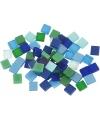 Mozaiek tegels kunsthars groen blauw 5x5