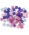 Mozaiek tegels kunsthars paars roze 5x5
