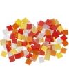 Mozaiek tegels kunsthars rood oranje 5x5
