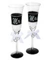 Mr mrs champagneglas 24 cm