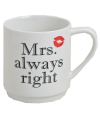 Mrs always right porseleinen beker