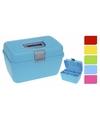 Multifunctionele opberg sorteer box blauw 28 cm