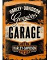Muurplaat harley davidson garage 30 x 40 cm