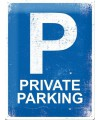 Muurplaat private parking 30 x 40 cm