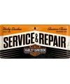 Muurplaat service en repair 25 x 50 cm