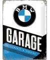 Muurplaatje bmw garage 30 x 40 cm