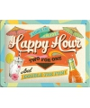 Muurplaatje happy hour 15 x 20 cm