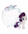 My little pony paardje in tasje rarity 8 cm