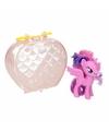 My little pony paardje in tasje twilight sparkle 8 cm