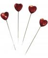Naald met rood hart 6 cm