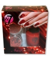 Nagellak kit rood met glitters
