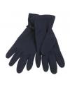 Navy blauwe fleece handschoenen voor volwassenen