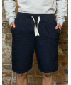 Navy campus shorts voor heren