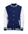 Navy met wit college jacket voor heren