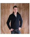 Navy micro polar fleece trui voor heren