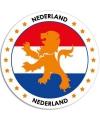 Nederland sticker rond 14 8 cm