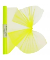 Neon gele organza stof op rol 40 x 200 cm