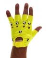 Neon gele punk handschoenen