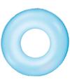 Neon glow opblaasbare zwemband blauw 76 cm