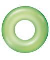 Neon glow opblaasbare zwemband groen 76 cm