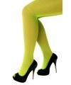 Neon groene net panty voor dames