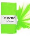 Neon groene organza stof 150 x 300 cm