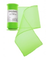 Neon groene organza stof op rol 12 x 300 cm